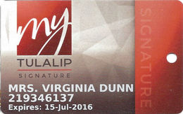 Tulalip Casino - Marysville WA - Slot Card (brown Tint Background) - Casino Cards