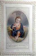 CANIVET IMAGE PIEUSE SANTINI NOEL JESUS DANS L'ETABLE LITHOGRAPHIE COULEUR   BEL ETAT - Imágenes Religiosas