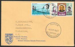 SOLOMON IS 1971 Cover To UK, KUKUM Cds.....................................11417 - Iles Salomon (...-1978)