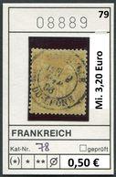 Frankreich - France - Francia - Frankrijk - Michel 78 - Oo Oblit. Used Gebruikt - 1876-1898 Sage (Type II)