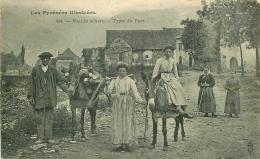 64 TYPES BASQUES. Attelage De Mule Ou Ane Porteurs De Bois 1906 - Biarritz