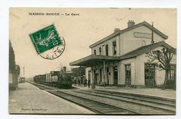 CPA  77  :  MAISON ROUGE   La Gare Avec Train      A  VOIR  !!!!!!! - Autres Communes