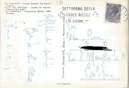 SETTIMANA DELLA CROCEROSSA 1-8/6/58 / ROMA GIARDINI VATICANI  (283) - Croce Rossa