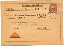 Briefkaart Carte Lettre Brevkort - Postförskott Linköping - Till Oskarshamn Sverige Suède Zweden - Postal Stationery