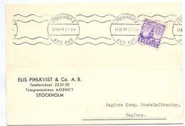 Briefkaart Carte Lettre Brevkort - Elis Pihlkvist Stockholm - Till Hagfors Sverige Suède Zweden 1941 - Enteros Postales