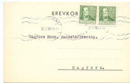 Briefkaart Carte Lettre Brevkort - Bendix Josephson Stockholm - Till Hagfors Sverige Suède Zweden 1939 - Postal Stationery