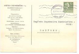 Briefkaart Carte Lettre Brevkort - Otto Nyströms Stockholm - Till Hagfors Sverige Suède Zweden 1940 - Postal Stationery