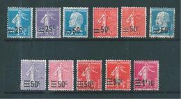France Timbre De 1926/27 N° 217 A 228   Neufs * 2 Oblitérés Cote 17€75 - France