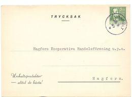 Briefkaart Carte Lettre Brevkort Trycksak - Urshult Till Hagfors Sverige Suède Zweden - Postal Stationery