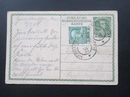 Österreich 1909 Ganzsache P 207 Regierungsjubiläum Kaiser Franz Joseph Mit Zusatzfrankatur! Herrnskretschen - Briefe U. Dokumente
