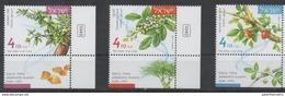 ISRAEL, 2017, MNH, AROMATIC PLANTS, BALSAM, MYRRH, FRANKINSENSE,3v - Pflanzen Und Botanik