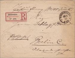 Einschreiben Von Bischweiler Nach Berlin 1883 - Deutschland