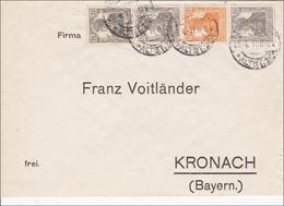 Germania: S12a Im Zusammendruck Auf Brief Nach Kronach 1917 - Germany