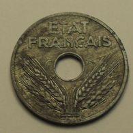 1941 - France - 20 CENTIMES, ETAT FRANCAIS, Zinc, Type 20, Lourde, KM 900.1, Gad 321 - Francia