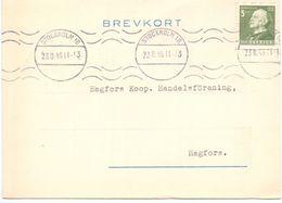 Briefkaart Carte Lettre Brevkort Trycksak - Brio - Osby   Till Hagfors Sverige Suède Zweden 1945 - Entiers Postaux