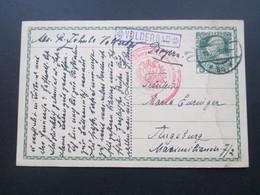Österreich Ganzsache 1915 Zensurpost 1.WK Überprüfungskommission. Stempel R1 Volderbad Nach Augsburg - 1850-1918 Imperium
