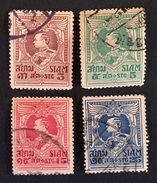 Siam 1923 Yvert Et Tellier N°172 à 175 - Siam