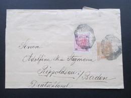 Österreich Ganzsache 1900 Streifband 3 Heller Mit 10 Heller Zusatzfrankatur Nach Rippoldsau In Baden - 1850-1918 Imperium