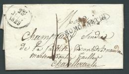 Lettre De DE Tremblevy ( Ancien Nom De Saint Viatre) Près Romorantin Pour Chatellerault En 1829  AX 13108 - Marcophilie (Lettres)