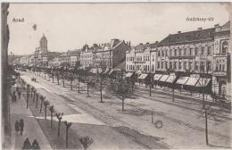 AK - Rumänien   - ARAD - Strassenansicht Andrassy Ter 1917 - Rumänien