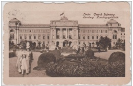AK - Ukraine - LEMBERG - Landtagsgebäude 1911 Stempel K.u.k. Militärzensur - Ukraine