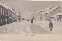 AK - (Montenegro) CETINJE - Rue Katounska Im Winter 1900 - Montenegro