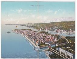 AK - Kroatien - Klappkarte - ZARA (Zadar) - Panorama A Volo D´uccello 1910 - Croatie