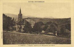 GRESIN  L'Eglise ,l'Ecole Et Le Monument Aux Morts RV - France
