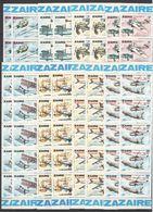 H182 1978 ZAIRE TRANSPORT AVIATION CONQUETE DE L'AIR OVERPRINT !!! 10SET MNH - Airplanes