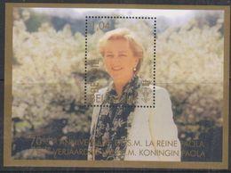 Belgie 2007 70st Verjaardag Koningin Paola  Blok  M/s ** Mnh (38220B) @ Face Value - Blocks & Kleinbögen 1962-....