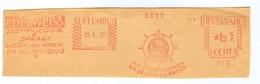 Edelweiss Zeep Soap Was Washing Factory Fabriek Apeldoorn Hass & Brero 29.6.37 - Fragment - Marcofilie - EMA (Print Machine)