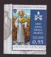 2015 - Vaticano  San Colombano MNH** - Nuovi