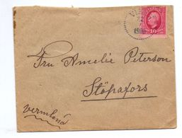 Enveloppe Kuvert - Vikett 1909 - Till Stäpafors Sverige Suède Zweden - Suède