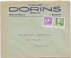 Enveloppe Kuvert - Pub Reklam Dorins Stockholm - Till Hagfors Sverige Suède Zweden 1939 - Suède