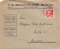 Enveloppe Kuvert - Pub Reklam Sadelmakare Emanuelson Molkom  - Till Hagfors Sverige Suède Zweden 1946 - Suède