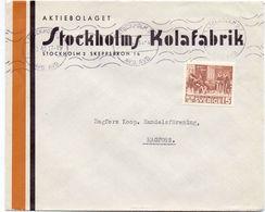 Enveloppe Kuvert - Pub Reklam Stockholms Kolafabrik - Till Hagfors Sverige Suède Zweden 1942 - Suède
