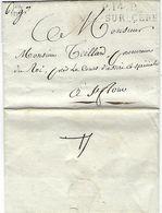 Cantal Vic Sur Cère Port Payé En 1814 Avec Indication Du Poids Pour Saint Flour, Superbe - Marcophilie (Lettres)