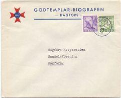Enveloppe Kuvert - Pub Reklam Godtemplar Biografen  - Till Hagfors Sverige Suède Zweden 1946 - Suède