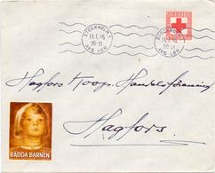 Enveloppe Kuvert - Pub Reklam Rädda Barnen - Stockholm - Till Hagfors Sverige Suède Zweden 1946 - Suède