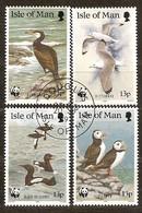Île De Man 1989 Yvertn°  408-411  (°) Oblitéré Used Cote 5,00 Euro Faune WWF Oiseaux Vogels Birds - Man (Ile De)