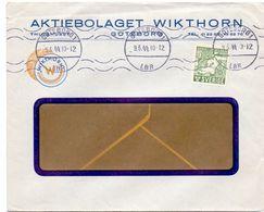 Enveloppe Kuvert - Pub Reklam Wikthorn Göteborg - Till Hagfors Sverige Suède Zweden 1944 - Suède