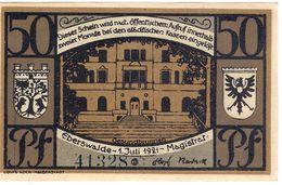 Deutschland Notgeld 50 Pfennig Mehl303.1 Brown EBERSWALDE /51M/ - [11] Emissions Locales