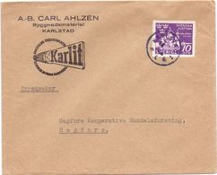 Enveloppe Kuvert  - Pub Reklam Carl Ahlzen Karlstad - Till Hagfors Sverige Suède Zweden - Suède