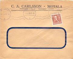 Enveloppe Kuvert  - Pub Reklam C. A. Carlsson Motala -  Sverige Suède Zweden 1939 - Suède