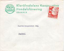 Enveloppe Kuvert  - Pub Reklam Klarälvsdalens - Edebäck - Till Hagfors Sverige Suède Zweden 1947 - Suède