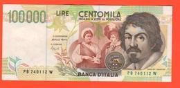 100.000 100000 Lire 1995 Caravaggio II° Tipo Repubblica Italiana - [ 2] 1946-… : Républic