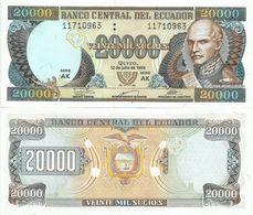 Ecuador 20000 Sucres 1999. UNC 20.000 Sucres - Ecuador