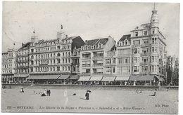 CPA PK  OSTENDE  LES HOTELS DE LA DIGUE  PRINCESS   SPLENDID ET BEAU RIVAGE - Belgique