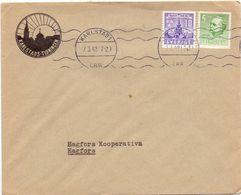 Enveloppe Kuvert  - Pub Reklam Karlstads Tidningen - Till Hagfors Sverige Suède Zweden 1942 - Suède