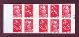FRANCE CARNET - Les Soixante Ans De La Marianne De Gandon Avec 5 X 3744b + 5 X 3977 -  N° 1514 - Carnets